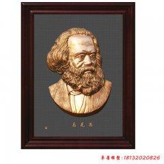 思想家馬克思頭像銅浮雕