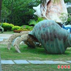 公園玻璃鋼仿青銅海螺雕塑