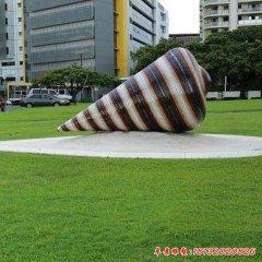城市草地玻璃鋼大型海螺雕塑