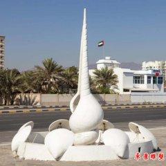 街邊海螺貝殼石雕