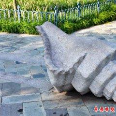 公園景區大理石海螺石雕