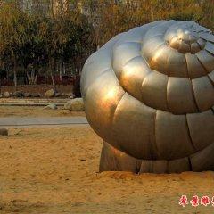 公園海螺銅雕