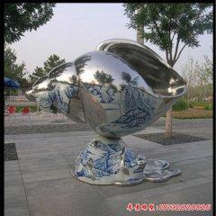 不銹鋼鏡面海螺雕塑