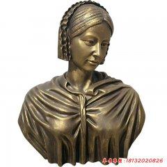 醫院西方名人南丁格爾胸像銅雕
