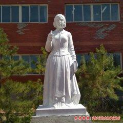 漢白玉校園名人南丁格爾石雕