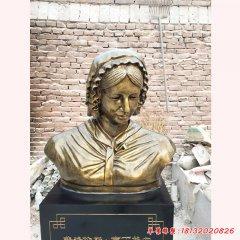 醫學名人南丁格爾胸像銅雕