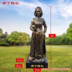 醫學名人南丁格爾銅雕像