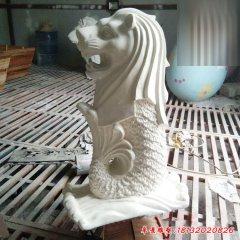 小區玻璃鋼魚尾獅雕塑