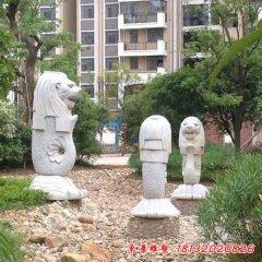 小區魚尾獅石雕