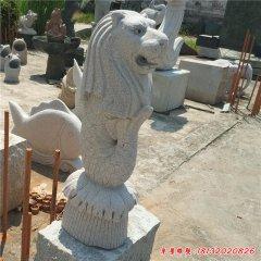 花崗巖噴水魚尾獅石雕