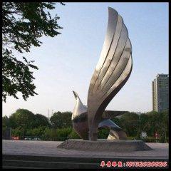不锈钢大型抽象鸽子雕塑