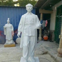 立式玻璃钢白求恩雕像