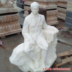 坐式汉白玉白求恩石雕