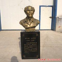 铜雕白求恩胸像