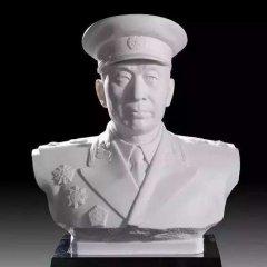 汉白玉十大元帅头像石雕