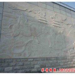 学校古代名人石浮雕