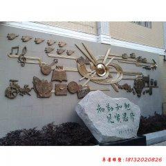 校园古代发明校训铜浮雕