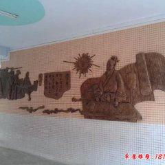 锻铜校园古代名人浮雕