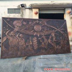 学校科教兴国学生铜浮雕