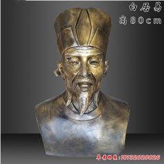 校园名人白居易头像铜雕