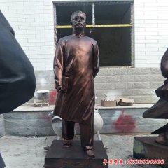 校园陶行知铜雕像