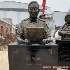 学校名人林俊德头像铜雕