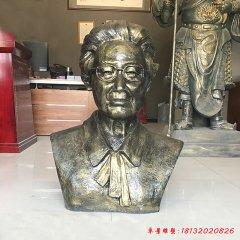 校园名人屠呦呦头像铜雕