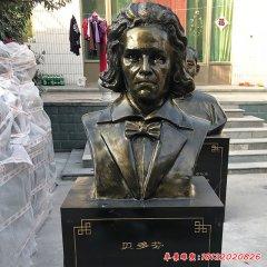校园西方名人贝多芬头像铜雕