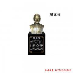 校园名人张文裕头像铜雕