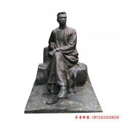 校园文学家鲁迅铜雕