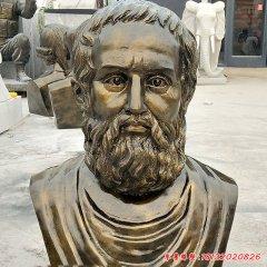 校园西方名人柏拉图头像铜雕