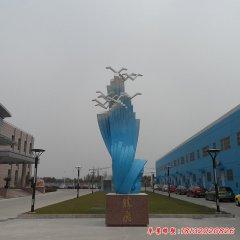 学校不锈钢腾飞雕塑