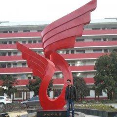 校园不锈钢知识的翅膀雕塑
