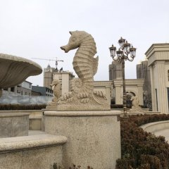海马喷泉石雕