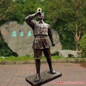 吹號角紅軍雕塑