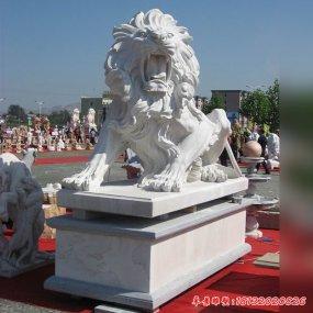 民間獅子雕塑